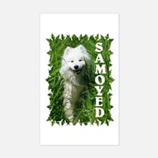 Samoyed In Grass Decal