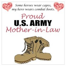 Proud US Army Mother-In-Law Poster