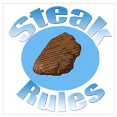 Steak Rules Framed Print