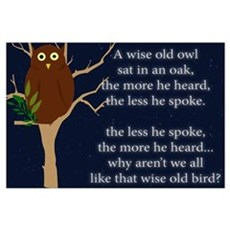 A Wise Old Owl: Poster