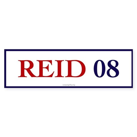 Reid 08 Bumper Sticker