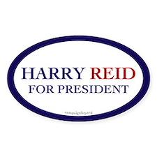 Harry Reid for President. Oval Decal