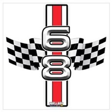 68 Racer Red Poster