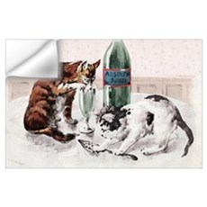 Absinthe Cats Wall Decal