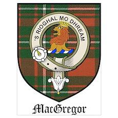MacGregor Clan Crest Tartan Poster