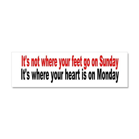 It's not where you are Sunday Car Magnet 10 x 3