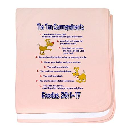 Ten Commandments baby blanket