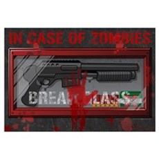 In Case Of Zombies Canvas Art