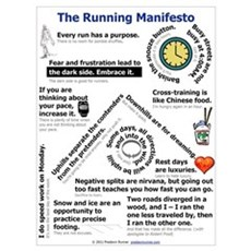The Running Manifesto Framed Print