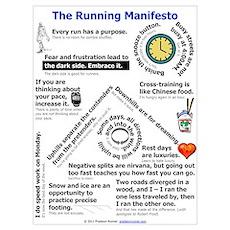 The Running Manifesto Poster