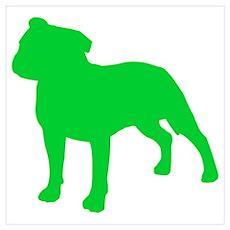 Staffordshire Bull Terrier St. Patty's Day Mini Po Poster