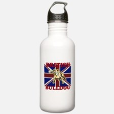 Funny British bulldog Water Bottle