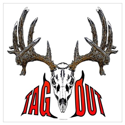 Whitetail deer,tag out Canvas Art