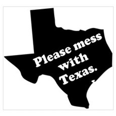 Please Mess With Texas Canvas Art