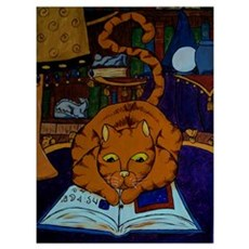 The Wizard's Cat Canvas Art