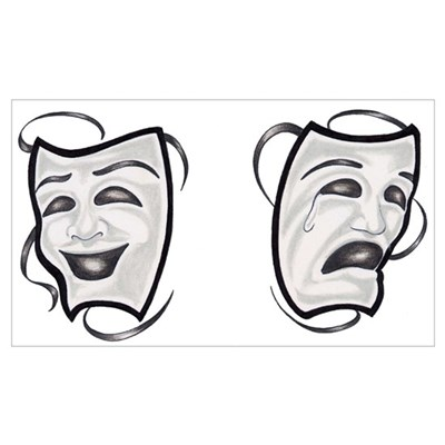 Comedy Tragedy Masks Canvas Art
