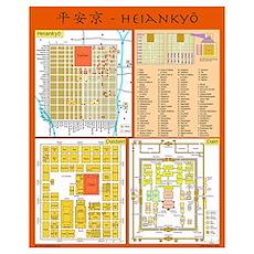 Small Heiankyo Map (English) Poster