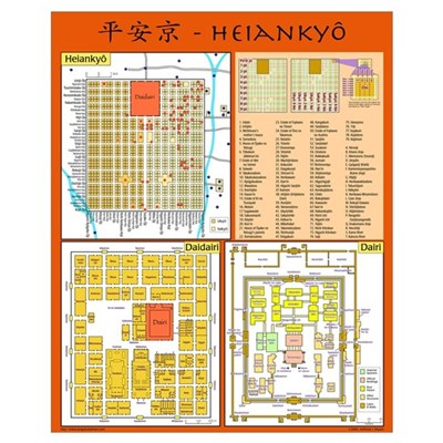 Small Heiankyo Map (English) Poster