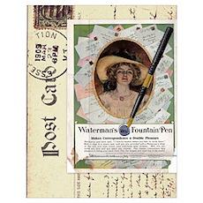 1909 Waterman's Pen Ad Poster