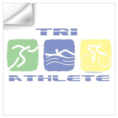 TRI ATHLETE Wall Decal