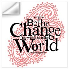 Paisley Pink - Be the change Wall Decal