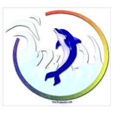 Gay Pride Dolphin Poster