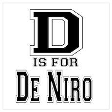 D is for De Niro Poster