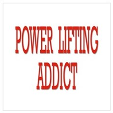 POWER LIFTING ADDICT Framed Print