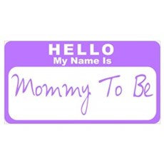 My Name Is Mommy To Be (Purple) Poster