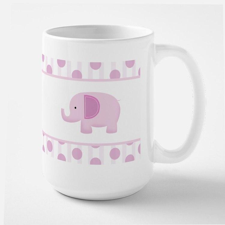 Pink Mod Elephant Mug