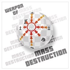 The Queen - Weapon of Mass Destruction Large Frame Poster
