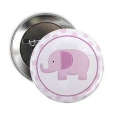 "Pink Mod Elephant 2.25"" Button"