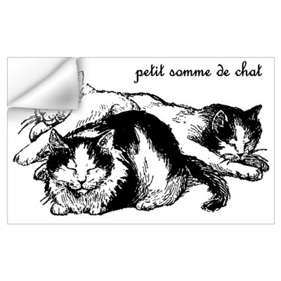 Petit Somme de Chat - Cat Nap Wall Decal
