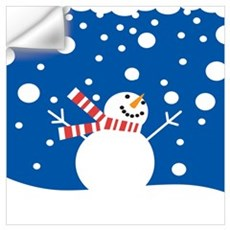 Holiday Snowman Wall Decal