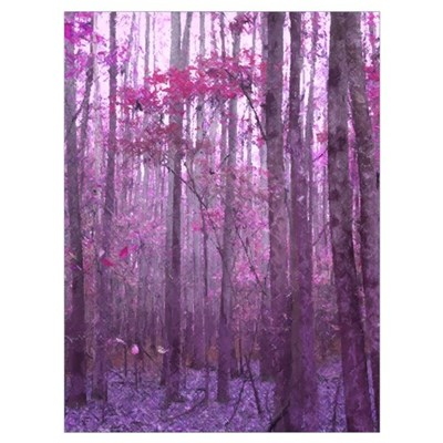 Violet Winter Woods Poster