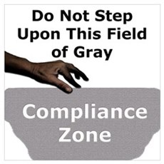 Compliance Zone Framed Print