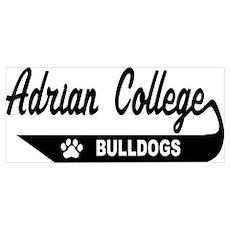 adrian college bulldogs Poster