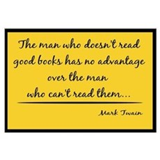 Twain Good Books--yellow Framed Print