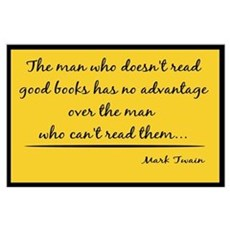 Twain Good Books--yellow Poster