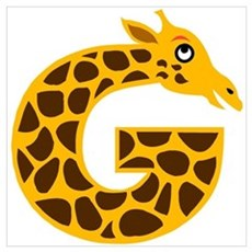 G is for Giraffe Poster