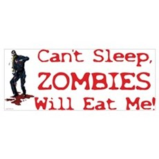 Can't Sleep Zombies Will Eat Me Canvas Art