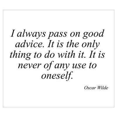 Oscar Wilde quote 2 Framed Print