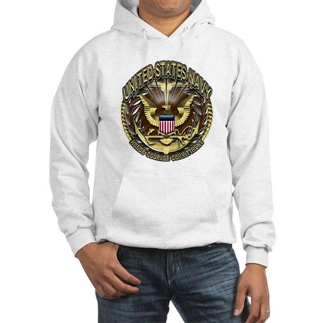 USN Golden Navy Eagle Planks Hooded Sweatshirt