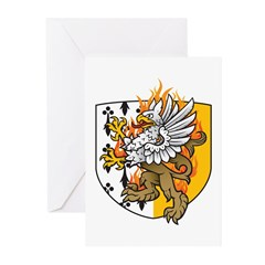 Flaming Gryphon Greeting Cards (Pk of 10)