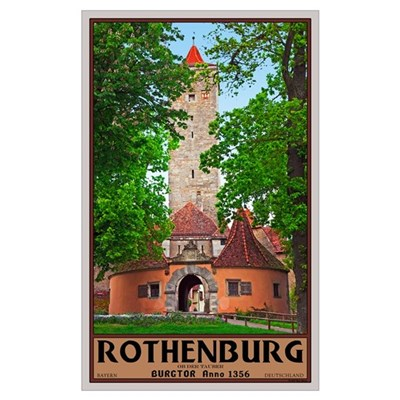 Rothenburg Burgtor Poster