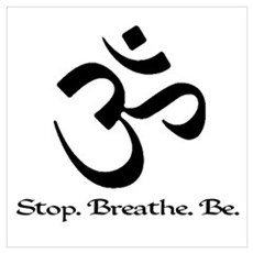 Om: Breathe & Be. Framed Print