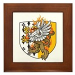 Flaming Gryphon Framed Tile