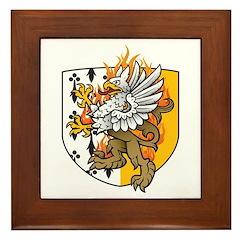 Flaming Gryphon Framed Tile