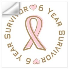 6 Year Breast Cancer Survivor Wall Decal