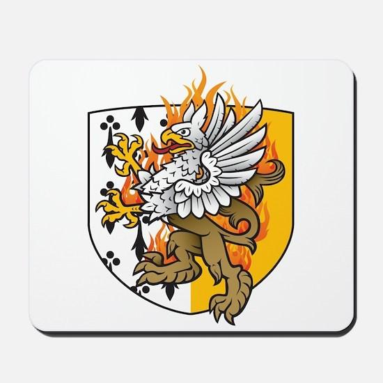 Flaming Gryphon Mousepad